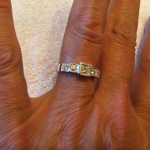 Jewelry - 18k White Gold  Diamond Ring! 61/2